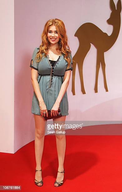 Palina Rojinski arrives for the Bambi 2010 Award at Filmpark Babelsberg on November 11 2010 in Potsdam Germany