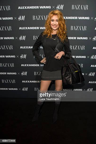 Palina Rojinski attends the Alexander Wang X HM collection preshopping event at Platoon Kunsthalle on November 5 2014 in Berlin Germany