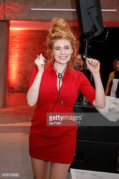 Palina Rojinski attends the Zalando Spring Summer 2016 Collection Launch with Anna Ewers on March 15 2016 in Berlin Germany