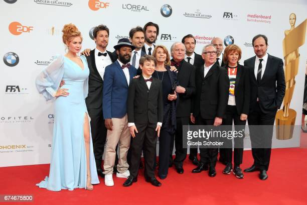 Palina Rojinski Florian David Fitz Simon Verhoeven Max Wiedemann Senta Berger Michael Verhoeven Quirin Berg during the Lola German Film Award red...