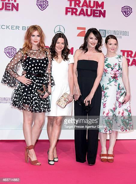 Palina Rojinski Hannah Herzsprung Iris Berben and Karoline Herfurth attend the 'Traumfrauen' premiere at CineStar on February 17 2015 in Berlin...