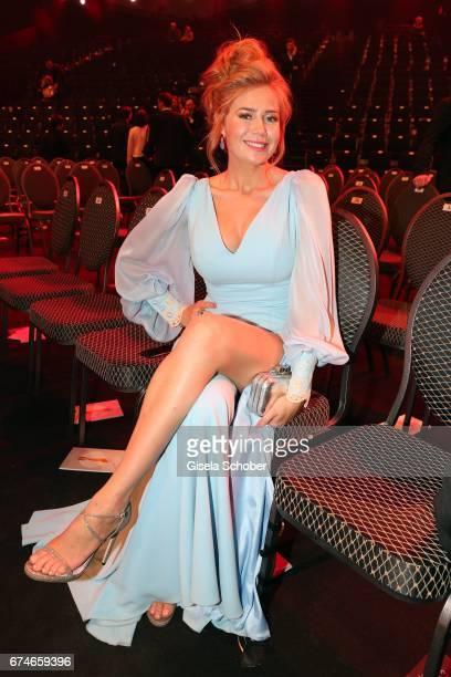 Palina Rojinski poses after the Lola German Film Award show at Messe Berlin on April 28 2017 in Berlin Germany