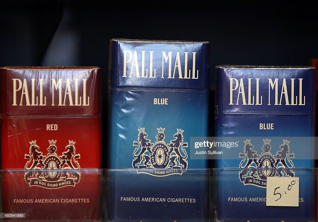Pall Mall cigarettes, manufactured by Reynolds Amercian, are displayed at a tobacco shop on July 11, 2014 in San Francisco, California. Tobacco giant Reynolds American is reportedly in talks with rival Lorillard Inc. in what is expected to be a multi-billion dollar deal.