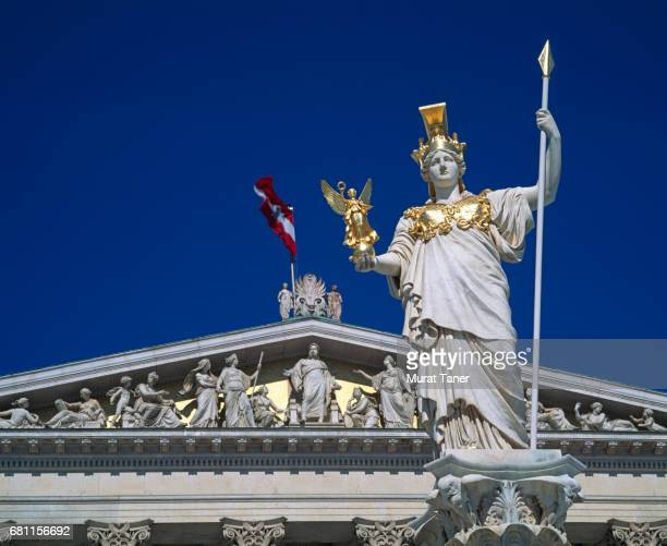 Pallas Athena Statue in front of the Austrian Parliament