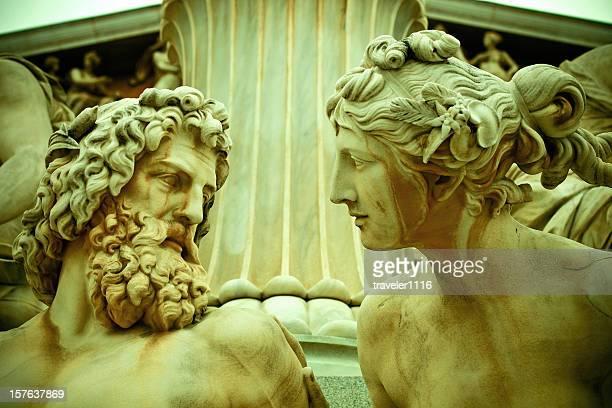 Pallas Athene Statue In Vienna, Austria