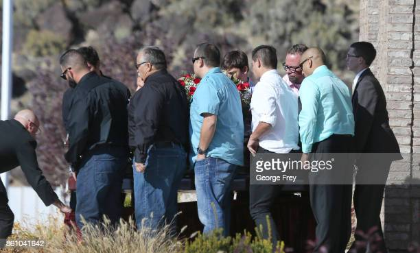 Pallbearers carry the casket of Heather Lorraine Alvarado after her funeral services on October 13 2017 in Enoch Utah Alvarado was a 35 year old wife...
