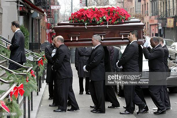 Pallbearers carry the coffin of Vincent Gigante into St Anthony of Padua Church on Sullivan St for funeral services Gigante the Genovese crime family...