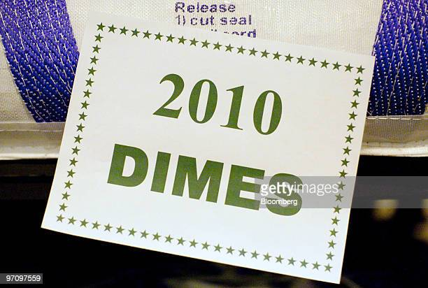 A pallet of 2010 dimes sits at the United States Mint in Philadelphia Pennsylvania US on Thursday Feb 25 2010 The US dollar has risen 25 percent...