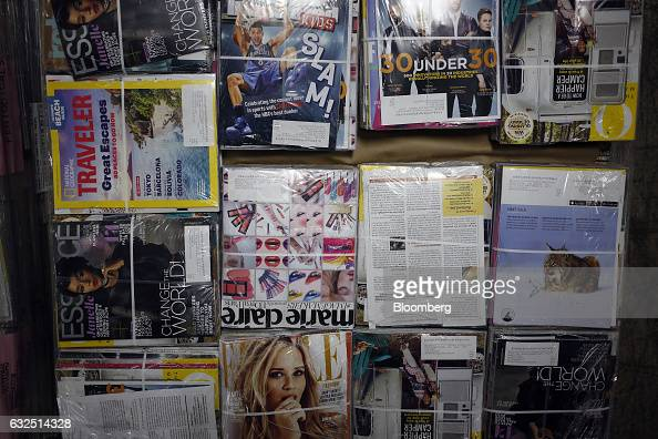 A pallet of magazines is seen before being sorted at the United States Postal Service sorting center in Louisville Kentucky US on Friday Jan 13 2017...