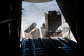 Pallets are released from a C-130 Hercules over Afghanistan.