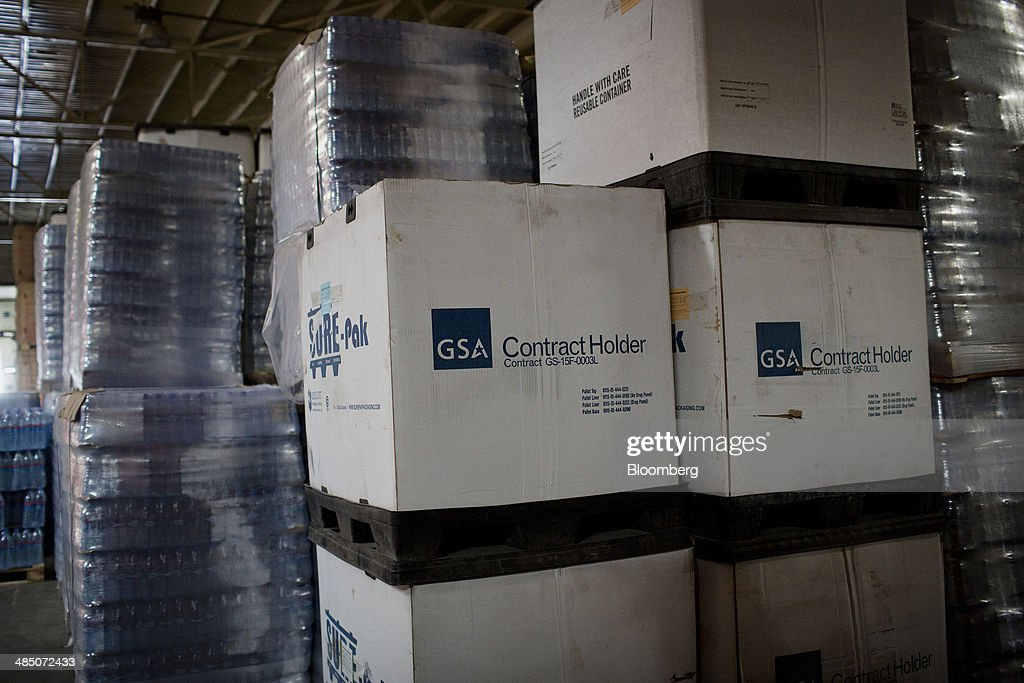 Pallets of bottled Kinley water waits to be shipped at the Habib Gulzar Non-Alcoholic Beverage Ltd. bottling facility, a bottler for Coca-Cola Co., in Kabul, Afghanistan, on Thursday, April 10, 2014. Coca-Cola Co., the world's largest soda maker, today showed signs of a rebound in the first three months of the year, easing the concerns that arose when the company unsettled investors with surprisingly sluggish global sales in the fourth quarter. Photographer: Victor J. Blue/Bloomberg via Getty Images