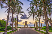 Palm Beach, Florida, USA clock tower on Worth Ave.