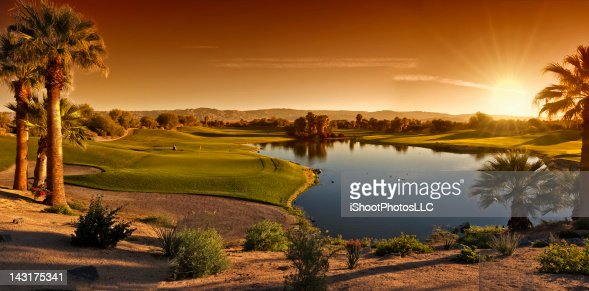 Palm Desert Golf Panorama Landscape