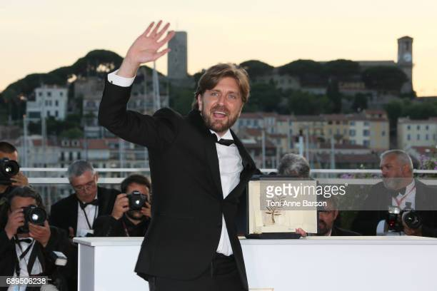 Palm D'Or Ruben Ostlund attends the winners photocall during the 70th annual Cannes Film Festival at Palais des Festivals on May 28 2017 in Cannes...