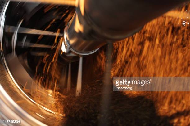 Palm fruit is processed at the PT Bakrie Sumatera Plantations palm oil factory in Kisaran North Sumatra Indonesia on Wednesday April 25 2012 Bakrie...