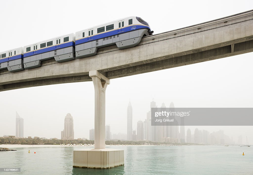 Palm Jumeirah Monorail : Stock Photo
