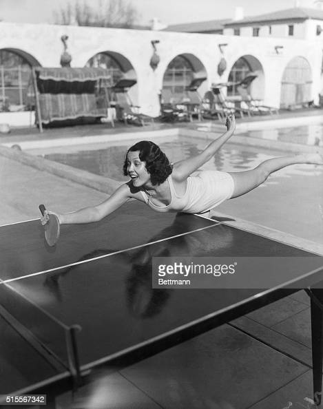 Palm Springs CA Raquel Torres Screen actress playing table tennis BPA2#4741