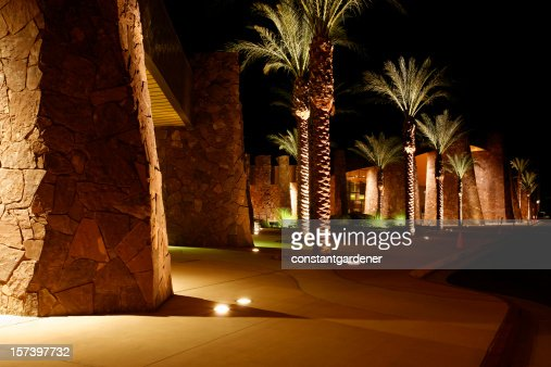 Palm Springs Convention Center At Night