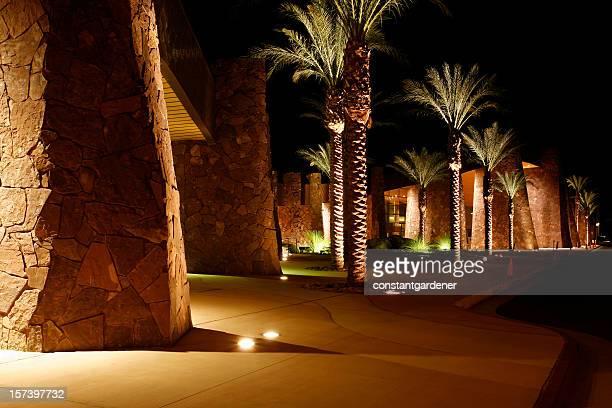 Palais des congrès de Palm Springs, de nuit