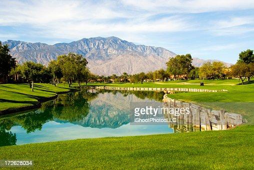 Palm Springs golf course landscape