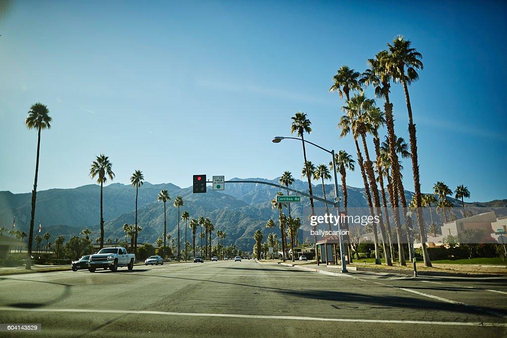 Palm Springs in desert
