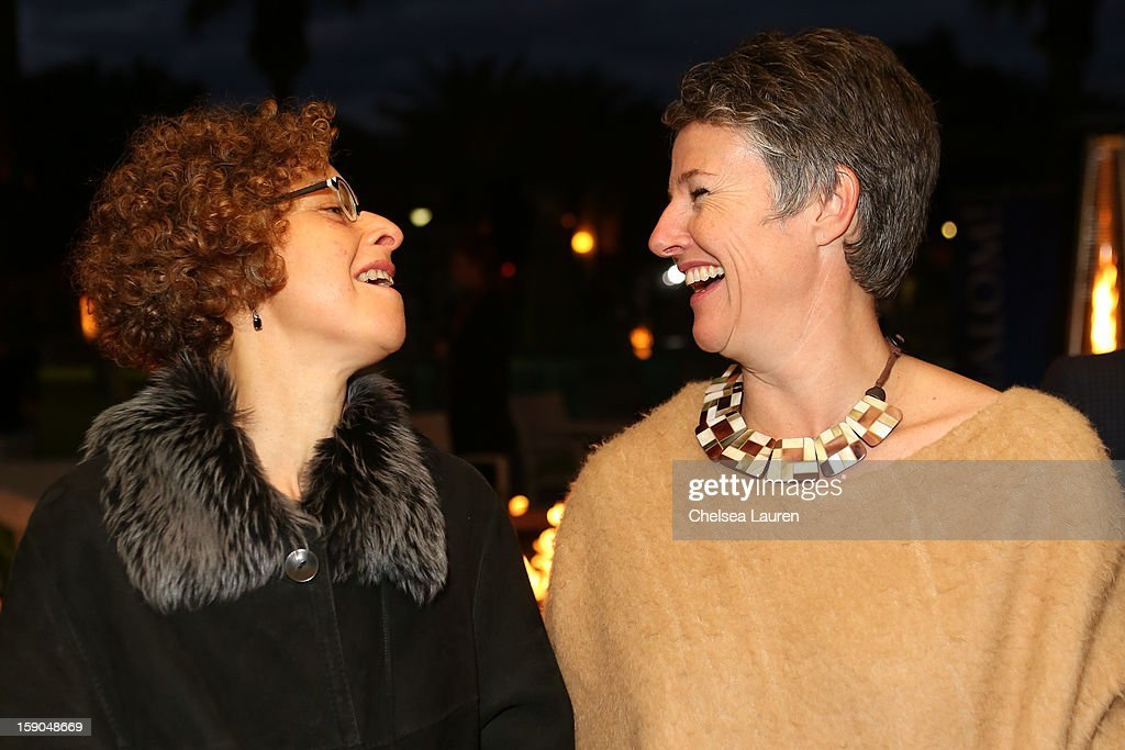 Palm Springs International Film Festival senior programmer Alissa Simon (L) and artistic director Helen du Toit attend the Israeli reception at the Palm Springs International Film Festival on January 6, 2013 in Palm Springs, California.