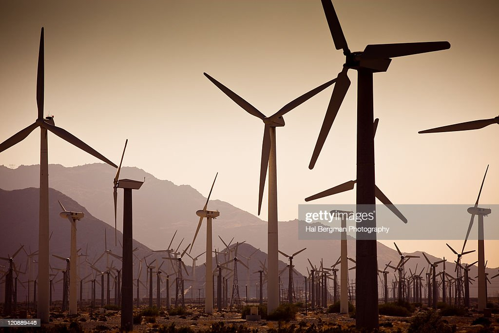 Palm springs wind farm : Stock Photo