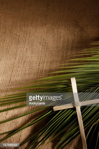 Palm Sunday Cross and Branch Background