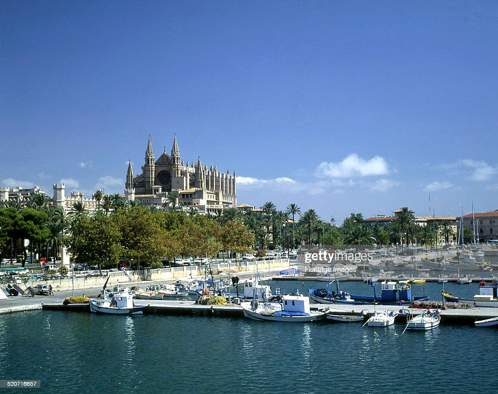 Palma Cathedral Harbour Majorca Spain