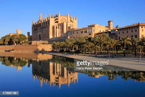 Palma De Mallorca Cathedral La Seu Parc De Mar Photo ...