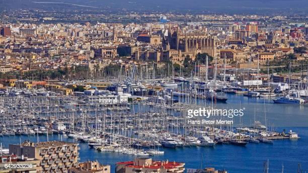 Palma de Mallorca, seen from Castillo de Bellver, Majorca, Balearic Islands, Spain