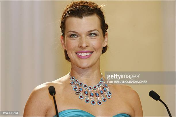 Palme d'Or closing ceremony at the Cannes film festival 2008 In Cannes France On May 25 2008 Milla Jovovich
