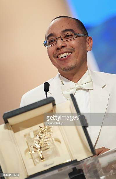 Palme d'Or winner for ''Uncle Boonmee Who Can Recall His Past Lives' director Apichatpong Weerasethakul looks on the Palme d'Or Award Ceremony held...
