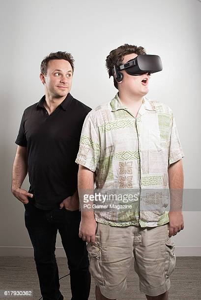 Palmer Luckey and Brendan Iribe of American virtual reality technology company Oculus taken on March 8 2016