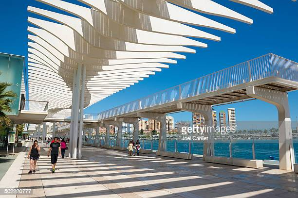 Palmeral de las Sorpresas promenade in Malaga Spain