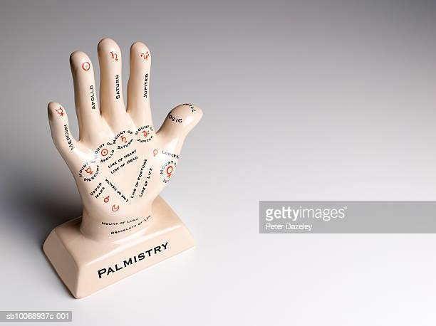 Palmistry hand, close-up