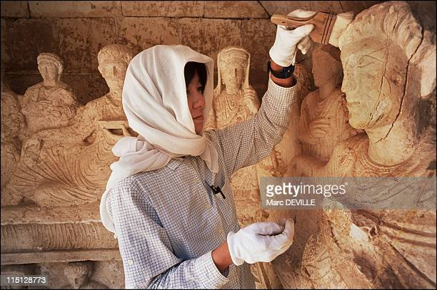 Palmyra's Last Treasures in Syria in September 2002 Tamaki Sasaki from the Archaeological Institute of Kashihara Nara realizes a very precise and...
