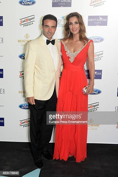Paloma Cuevas and Enrique Ponce attend the 5th annual Starlite Charity Gala on August 9 2014 in Marbella Spain