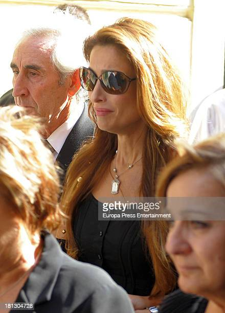 Paloma Cuevas attends the funeral for Leandro Martinez the grandfather of bullfighter Enrique Ponce on September 1 2013 in Valencia Spain