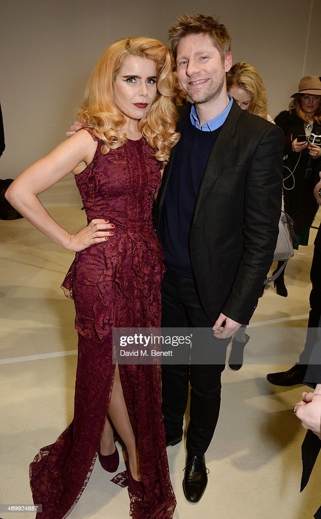 <a gi-track='captionPersonalityLinkClicked' href=/galleries/search?phrase=Paloma+Faith&family=editorial&specificpeople=4214118 ng-click='$event.stopPropagation()'>Paloma Faith</a> (L) and <a gi-track='captionPersonalityLinkClicked' href=/galleries/search?phrase=Christopher+Bailey&family=editorial&specificpeople=587505 ng-click='$event.stopPropagation()'>Christopher Bailey</a> pose backstage after the Burberry Womenswear Autumn/Winter 2014 show at Kensington Gardens on February 17, 2014 in London, England.