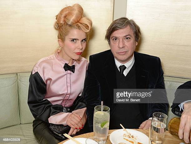Paloma Faith and George Condo attend a dinner at Nobu Berkeley celebrating American artist George Condo after his exhibition openings at both Simon...