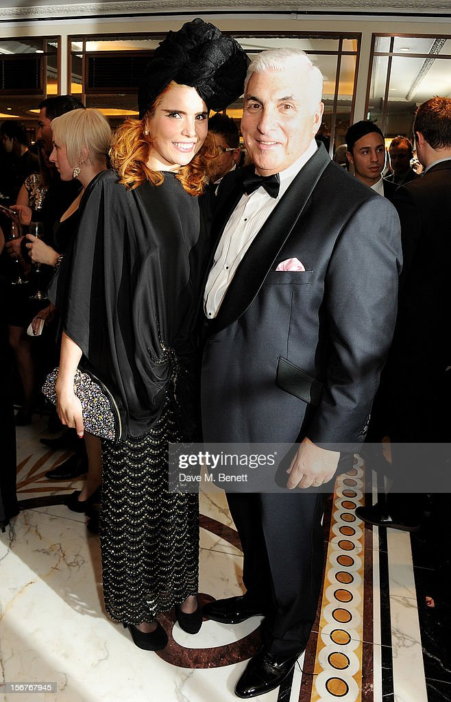 Paloma Faith (L) and Mitch Winehouse attend a drinks reception at the Amy Winehouse Foundation Ball held at The Dorchester on November 20, 2012 in London, England.