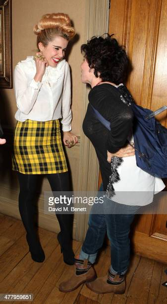 Paloma Faith and Ruby Wax attends a private screening of 'The Zero Theorem' at the Charlotte Street Hotel on March 11 2014 in London England