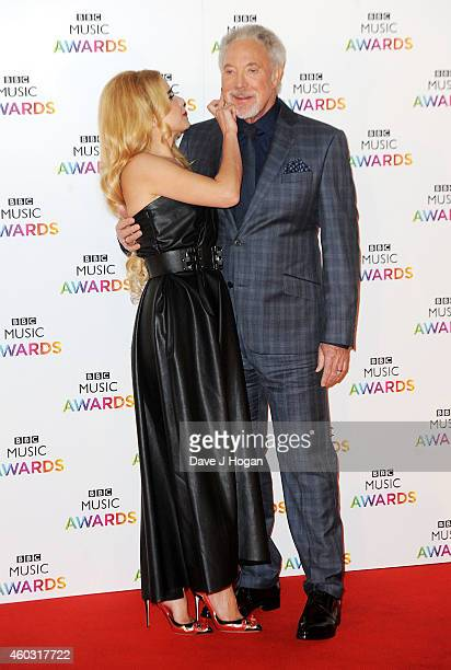 Paloma Faith and Tom Jones attend the BBC Music Awards at Earl's Court Exhibition Centre on December 11 2014 in London England