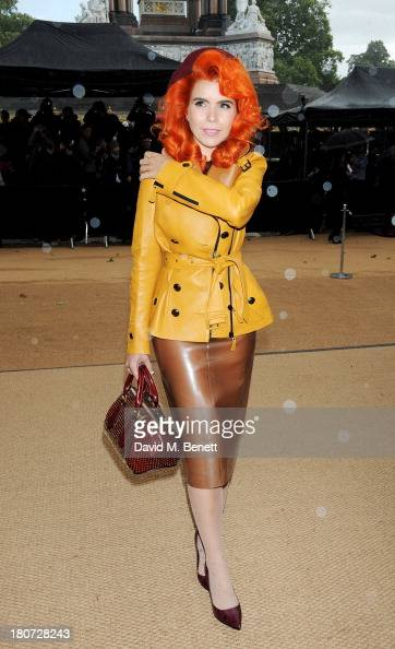 Paloma Faith arrives at Burberry Prorsum Womenswear Spring/Summer 2014 show during London Fashion Week at Kensington Gardens on September 16 2013 in...