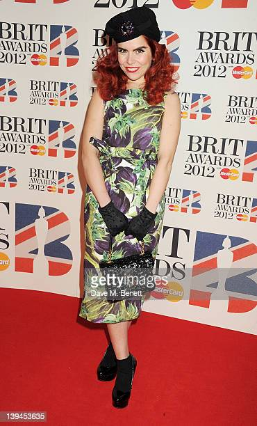 Paloma Faith arrives at the BRIT Awards 2012 at O2 Arena on February 21 2012 in London England