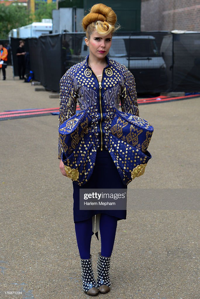 Paloma Faith arrives to perform at the Tate Modern on June 12, 2013 in London, England.