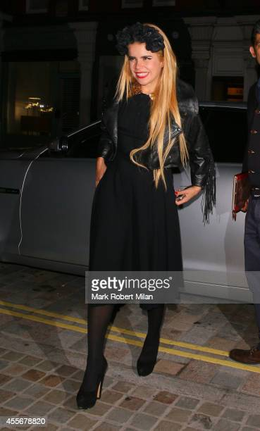 Paloma Faith at the Chiltern Firehouse on September 18 2014 in London England