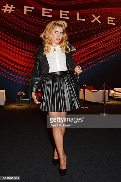 Paloma Faith attends as guests of Jaguar at the global reveal of the new XE in London at Earls Court on September 8 2014 in London England