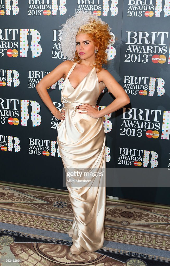Paloma Faith attends as the nominations for the BRIT Awards are announced at The Savoy Hotel on January 10, 2013 in London, England.